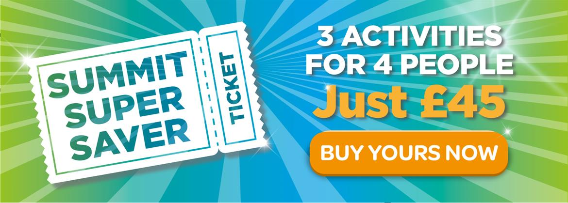 Buy a Summit Super Saver ticket and get 3 activities for 4 people for just £45.
